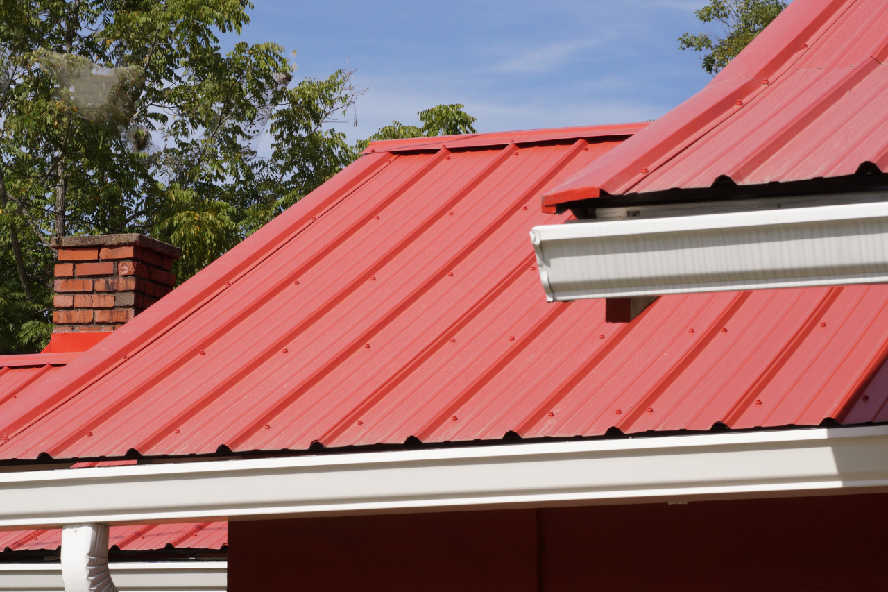 Residential red metal roof