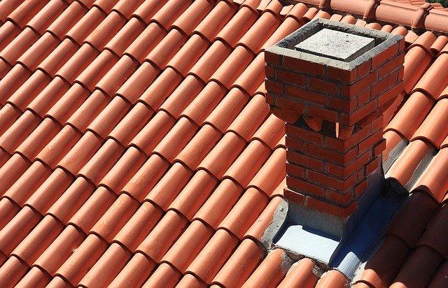 flashing around chimney on tiled roof